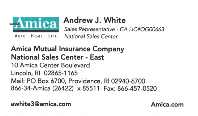 Amica Insurance Company >> Andrew J White Busidex